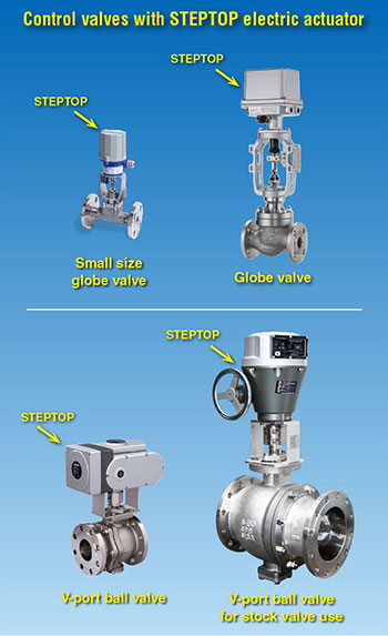 Control valves with STEPTOP electric actuator